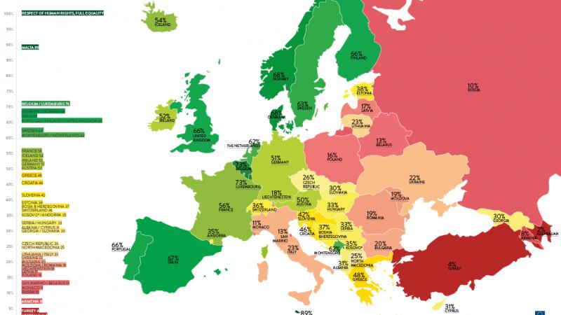 LHBTIQA+ ihmisoikeusjärjestö antoi Euroopan maille arvosanat – Suomen sijoitus sukelsi