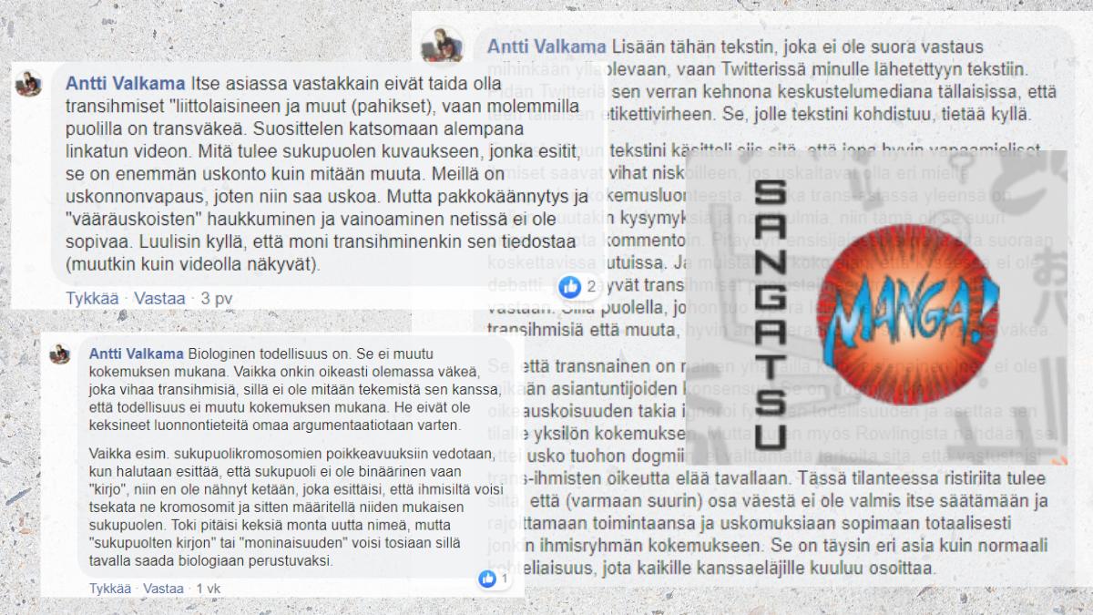 Suomalaisen mangakustantamon toimituspäällikkö julkaisee transvihamielisiä kirjoituksia – työnantaja ja alan toimijat eivät hyväksy