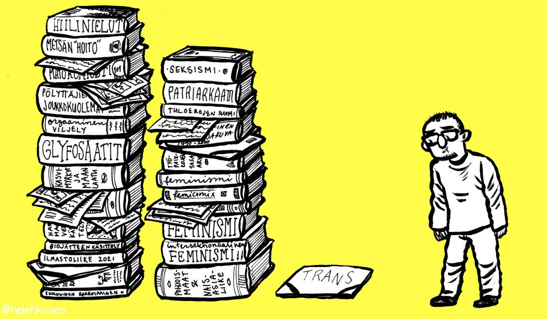 Sarjakuvaessee: Transaktivistiksi vastoin tahtoaan